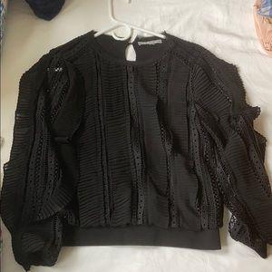Anthropologie sweatshirt blouse